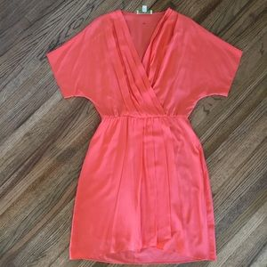 Morgan McFeeters Orange See-through dress.